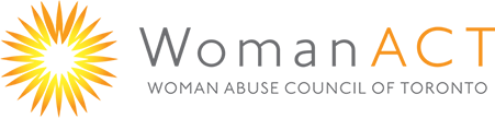Woman Act Logo, Return to home
